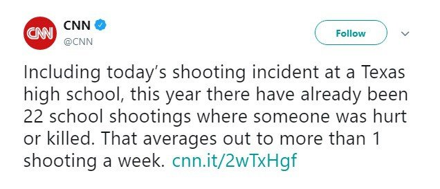 CNN Claims There's a School Shooting Every Week in America