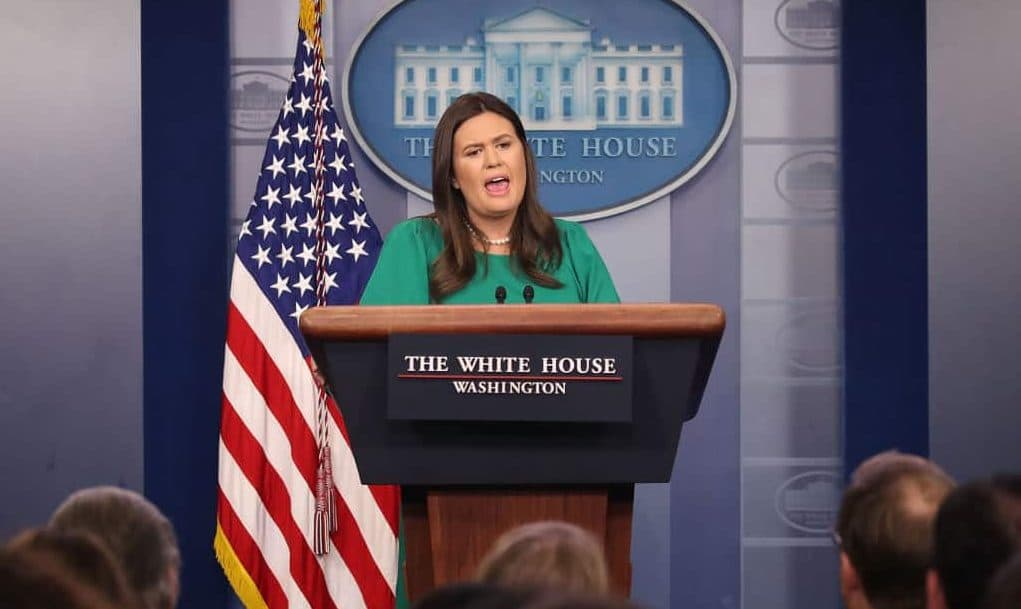 Huckabee Sanders Unloads on CNN's Acosta Over 'Pipe Bombs'