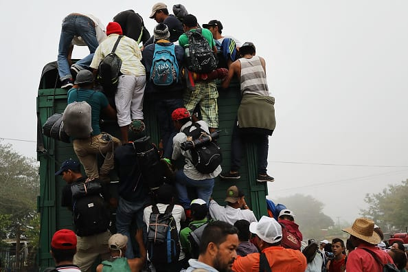 Caravan Splits Up, First of Several Groups Reach Mexico City