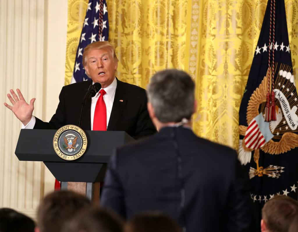 Trump Torches Acosta and CNN On Their Coverage of Flynn
