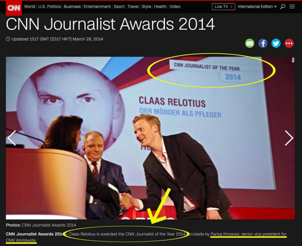 "CNN Hilariously Claims it's ""Misleading"" to Call Lying Reporter ""CNN Journalist of the Year"""