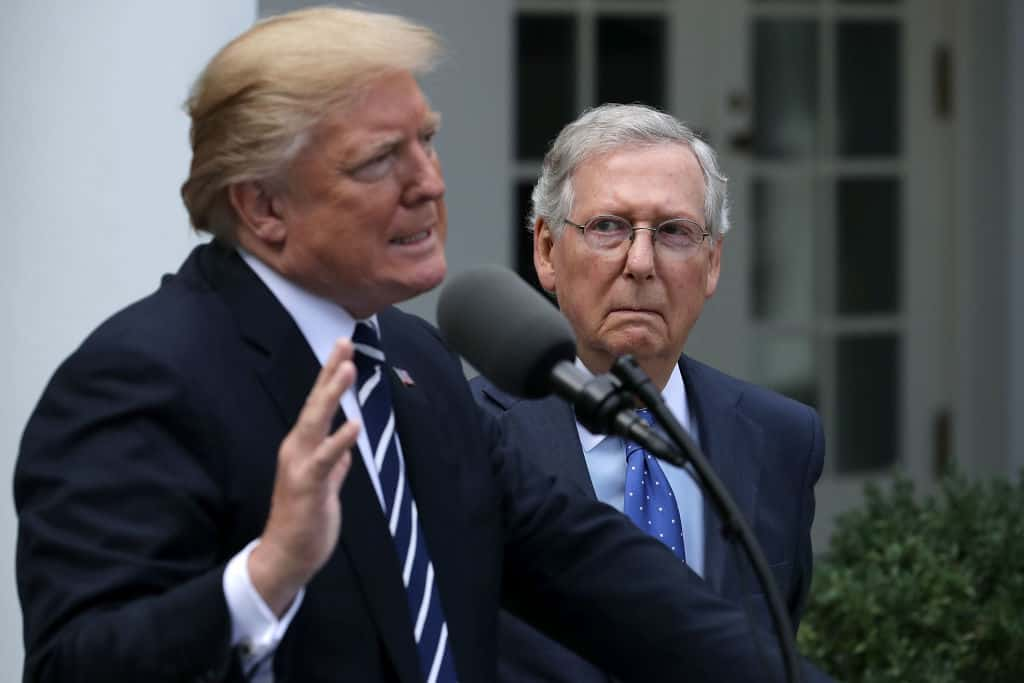 "Trump Rips ""Dour, Sullen, and Unsmiling Political Hack"" McConnell in Scathing Statement"