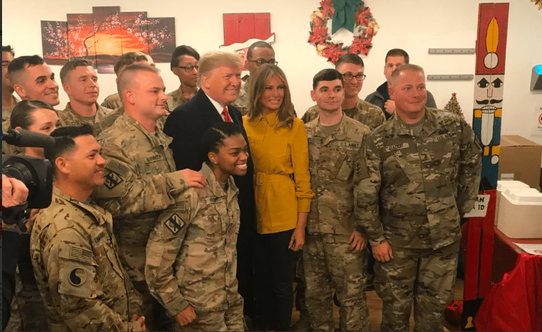 Breaking: President Trump and First Lady Visit with U.S. Troops in Iraq