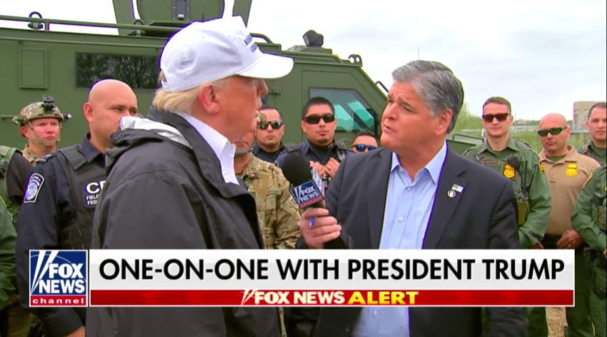 Watch: President Trump Joins Hannity at the Border, Slams Democrats for Playing Politics