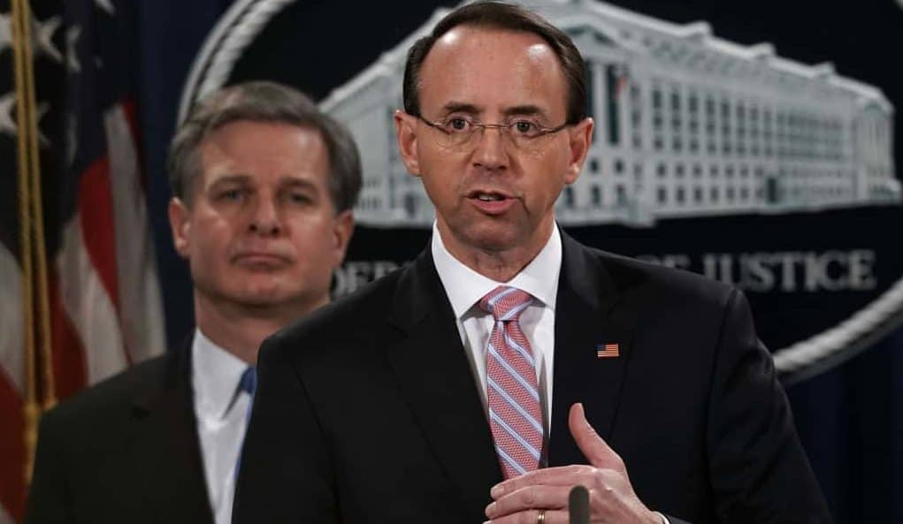 FINALLY: Rosenstein to Leave DOJ Next Month