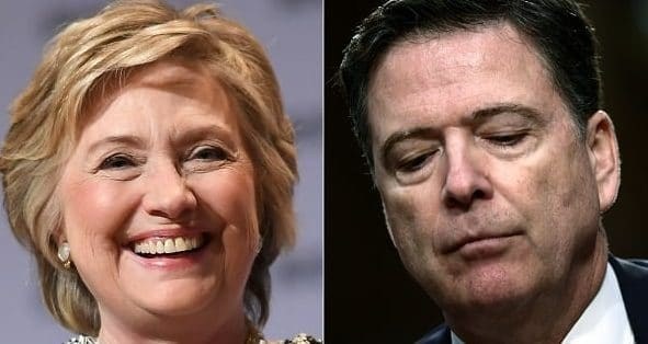 """Corrupt Comey Says """"Zero Chance"""" Hillary Will be Prosecuted for Email Scandal 2"""
