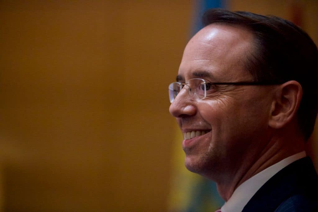 "Report: Rosenstein to Stay on at DOJ ""A Little Longer"" Than Expected"