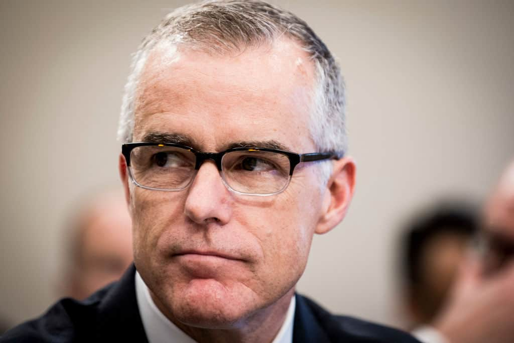 Disgraced McCabe Defends FBI's Use of Steele Dossier in FISA Warrant Application