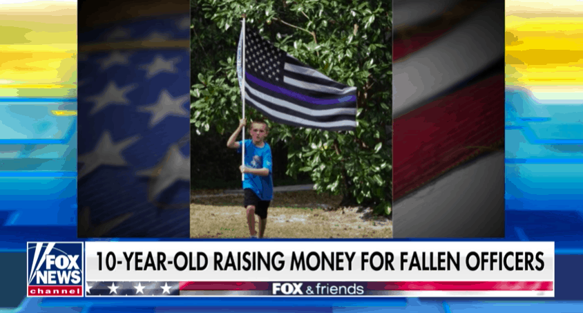 Watch: Incredible Interview with 10-Year-Old Boy Running One Mile for Every Fallen Police Officer