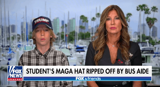 School Bus Aide Yells at Trump-Supporting Student, RIPS his Trump Hat Off