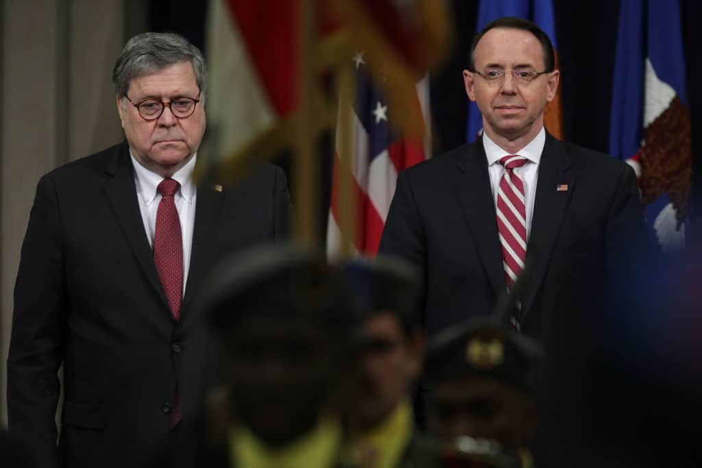 WATCH LIVE: Barr, Rosenstein Hold Press Conference Ahead of Mueller Report Release