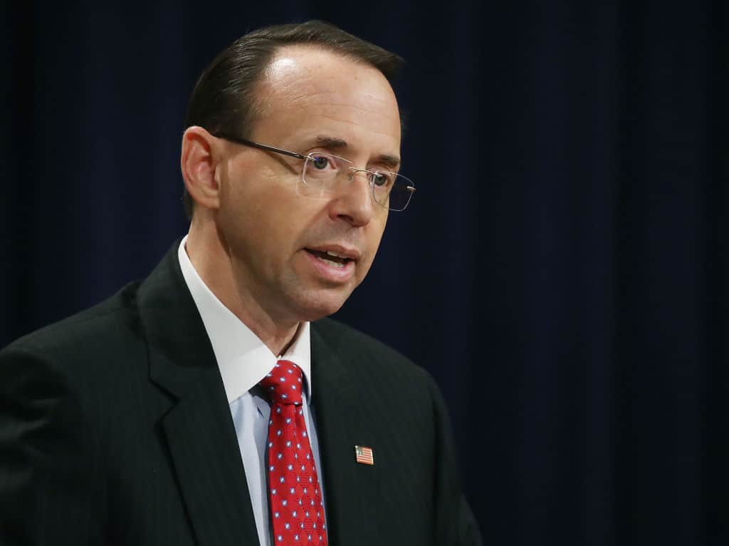 In Private Speech, Rosenstein Slams Obama Admin, Comey