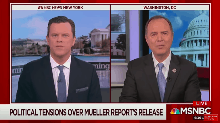 "Desperate Schiff Still Claiming ""Direct Evidence"" of Trump Collusion"