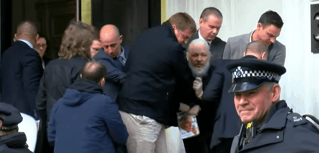 Julian Assange Arrested, Charged with Conspiracy to Commit Computer Intrusion