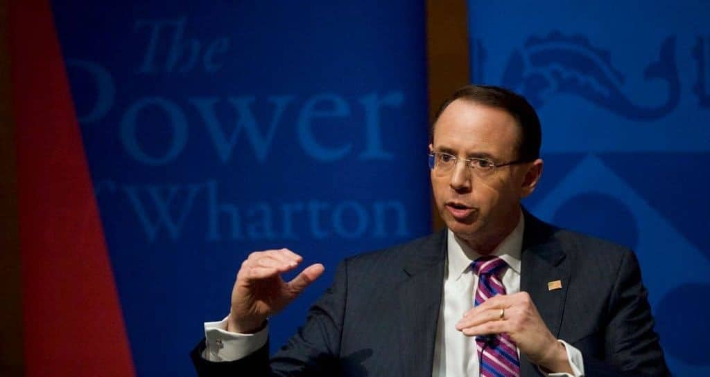 """Rosenstein Slams """"Partisan Pundit"""" Comey, Says He Deserved to be Fired"""