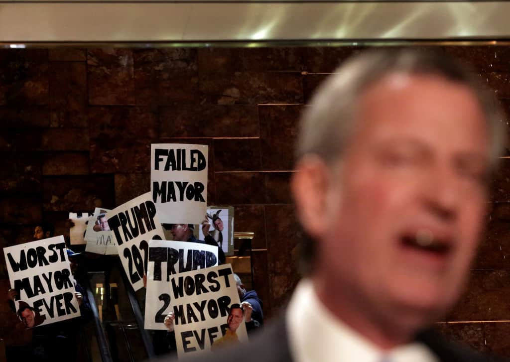 WATCH: Awesome Footage of Trump Fans Crashing de Blasio's Green New Deal Rally