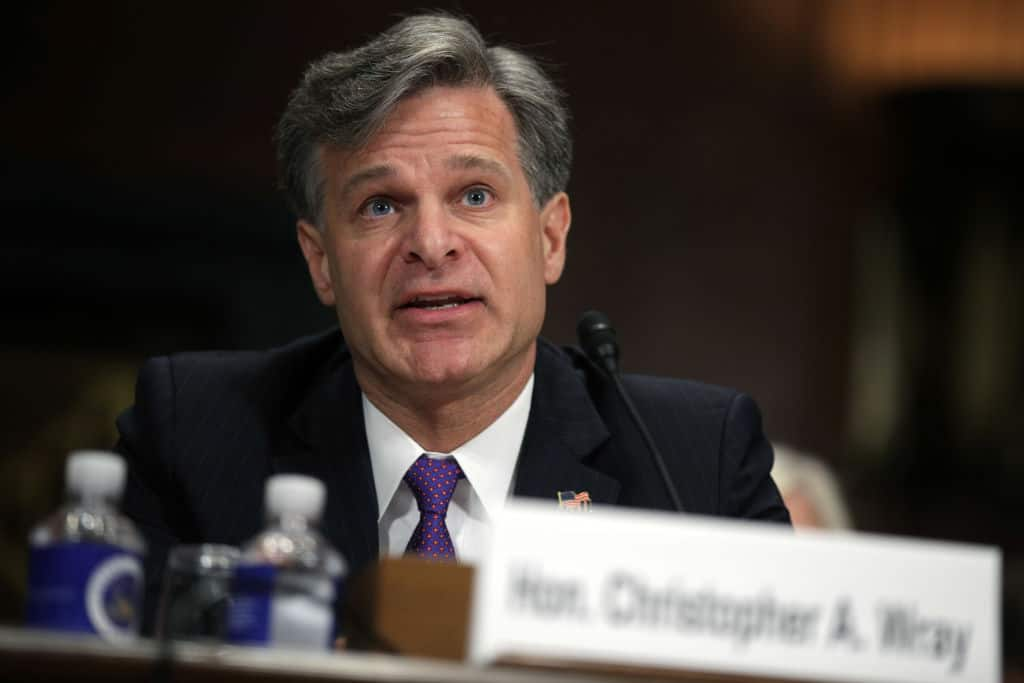 "Pathetic: FBI Director Wray Says Spying is ""Not the Term I would Use"""