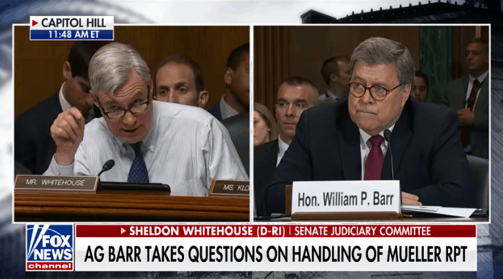 "Watch: Awesome Moment Barr Shuts Down Senator, Says He Won't Stop Using Term ""Spying"""
