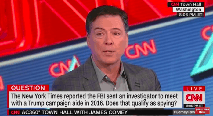 "Comey: ""Totally Normal"" to Plant Undercover Sources in Political Campaigns"