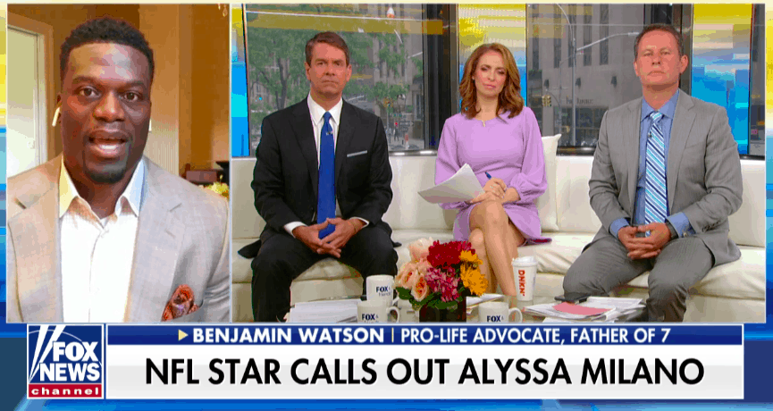"NFL Star Slams Alyssa Milano's Abortion Argument: ""Combination of Ignorance or Racism"""