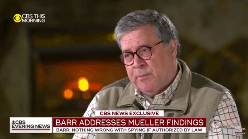 "Barr: Mueller ""Could Have Reached a Decision"" on Obstruction Charges"