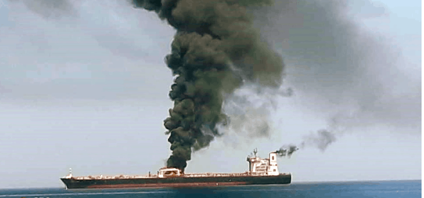 "Iran ""Highly Likely"" Behind Attacks on Oil Tankers in Gulf of Oman, U.S. Navy Responds"