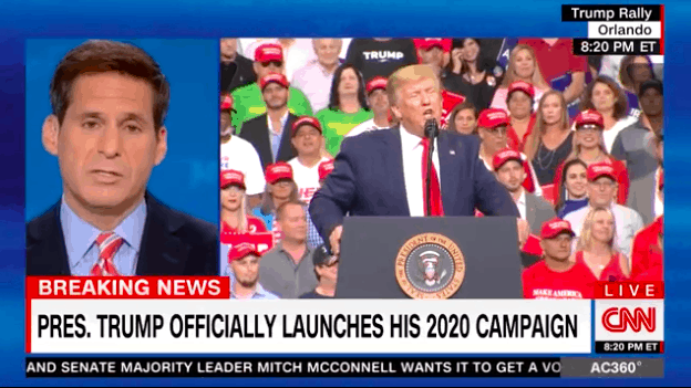"Watch: CNN Shamefully Cuts Away From Trump Speech After Crowd Chants ""CNN Sucks"""