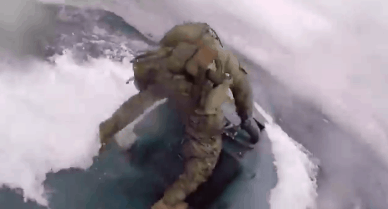 WATCH: INCREDIBLE Moment U.S. Coast Guardsmen Leap onto Drug Smuggling Submarine