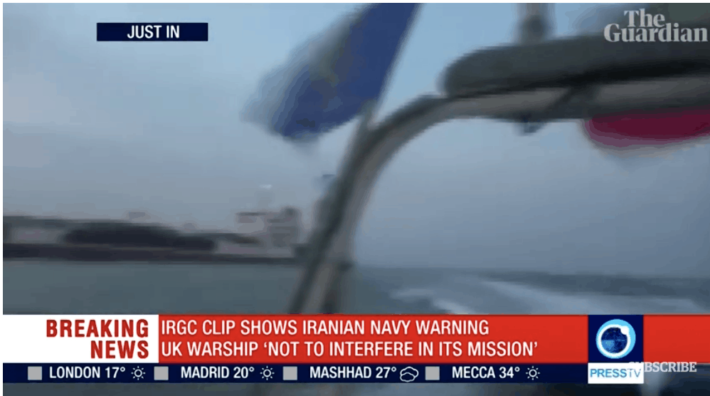 WATCH: Chilling Exchange Between IRAN & UK WARSHIP; 'Do Not Put Your Life in Danger'