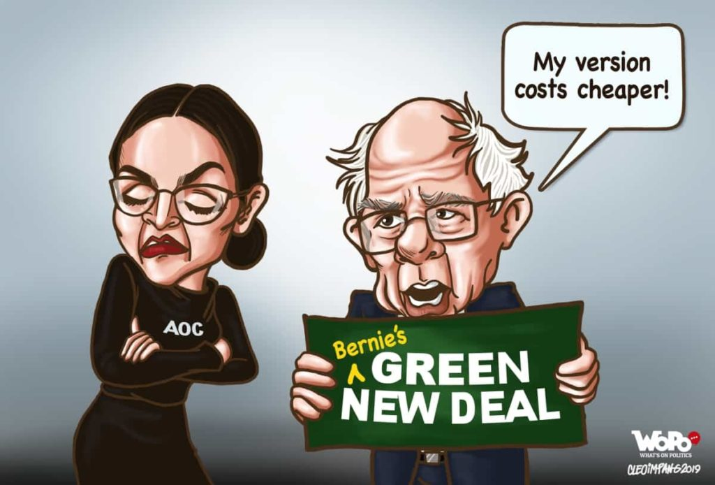 Bernie's Green New Deal is Just As Dumb as AOC's