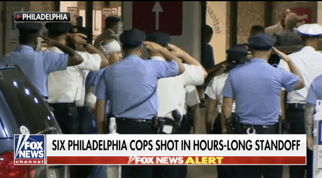 Watch: Philly 'Brothers in Blue' Salute Officer Wounded in Shootout as he Departs Hospital