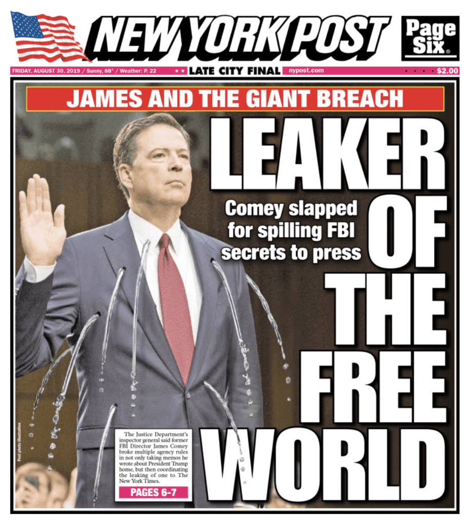 "NY Post: ""A Cheater's Guide to James Comey's FBI Policy Breaches"""