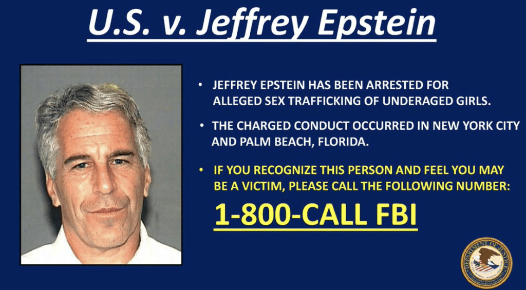 FBI: If You Have Been Victimized by Epstein, We Would Really Like to Hear From You