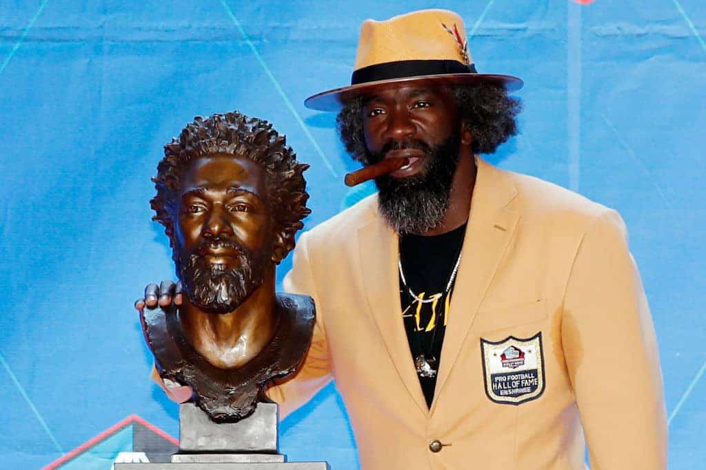 WATCH: NFL Hall of Fame Inductee Ed Reed Tells Heartfelt Story of Cop From His Childhood