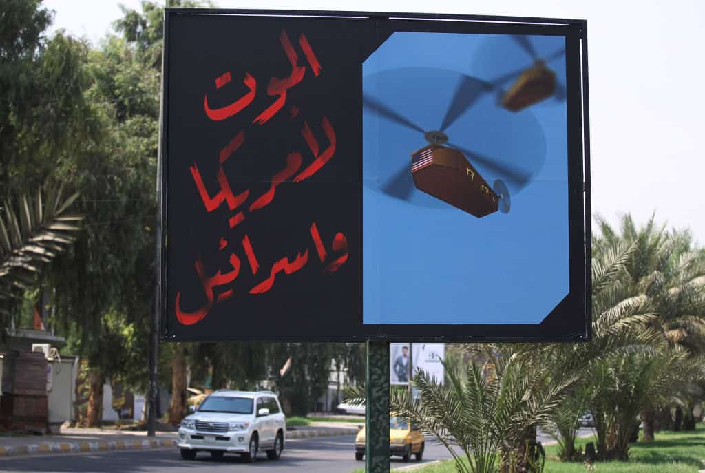 VIDEO: Stark Reminder We are Still at War; Death to America Billboards Plaster Iraq