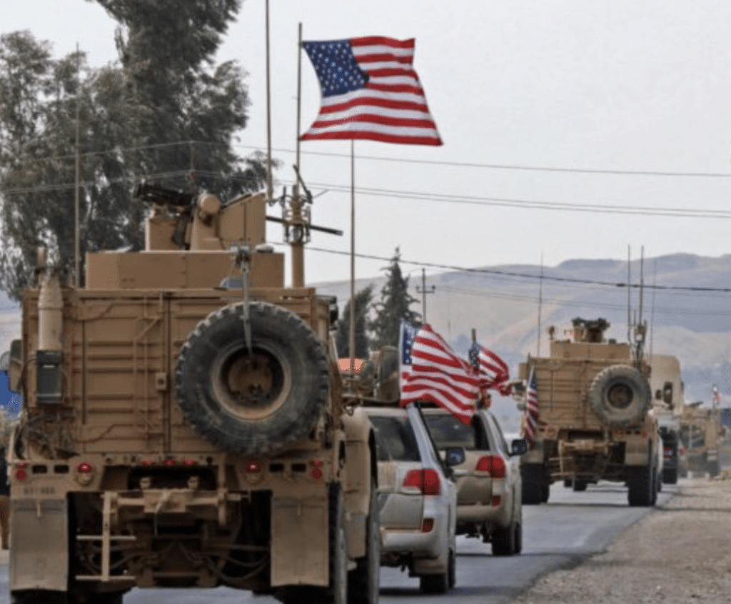 VIDEO: Kurds Attempt to Stand in the Way of U.S. Troops Leaving City