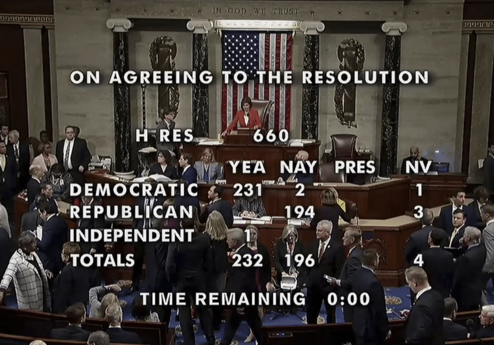 PASSED: Dems Push Impeachment Rules Through House 232-196