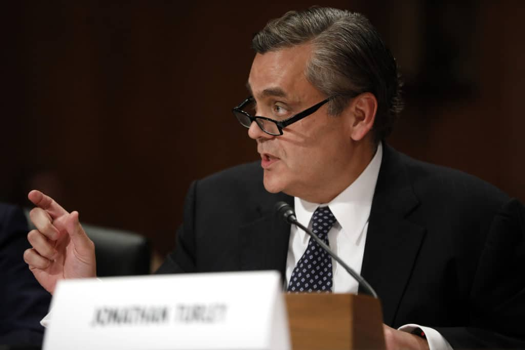 "GOP Witness Jonathan Turley To Testify that Dem Case for Impeachment is ""Woefully Inadequate"""