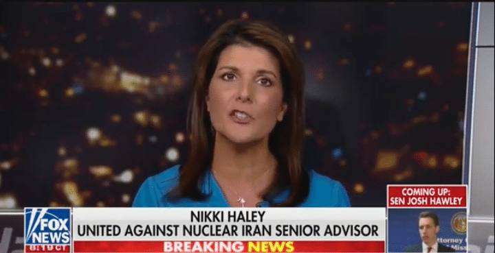 """WATCH: Haley Slams Democrats as the """"Only Ones"""" Mourning Soleimani's Death"""