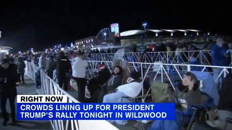 MAGA: TONS of Enthusiasm for Tonight's NJ Trump Rally, Record 175,000 Tickets Requested