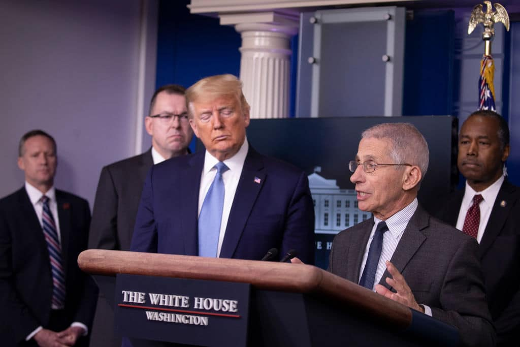 Dr. Fauci to Media: Stop Trying to Pit Me Against Trump