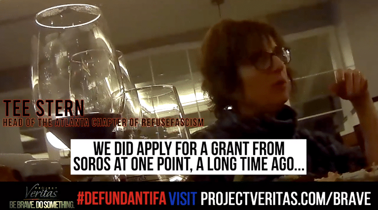 Project Veritas Video: Antifa Chapter Head Admits Soros Funding, Association With Tom Steyer