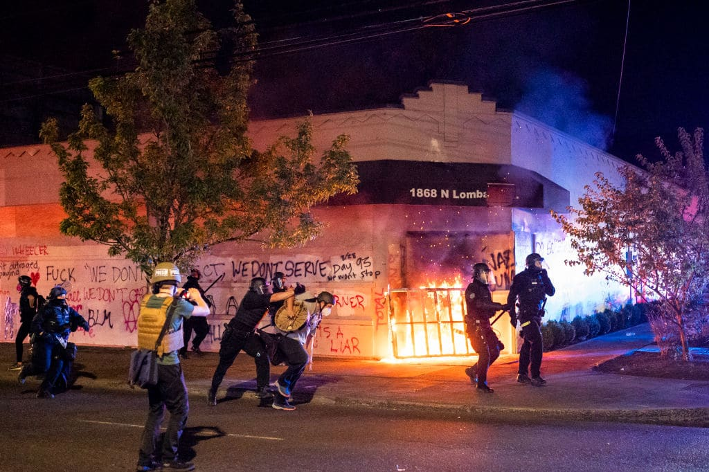 "Portland ""Protesters"" Set Fellow ""Protester"" on Fire With Bomb Meant for the Police"