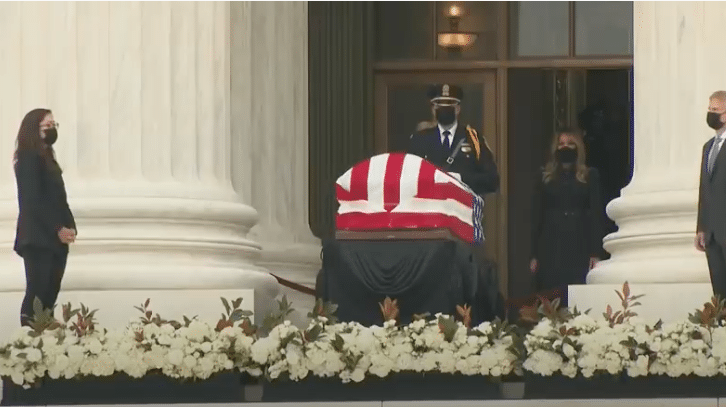 Crowd Screams at President Trump and First Lady as They Pay Respects to the Late Justice Ginsburg