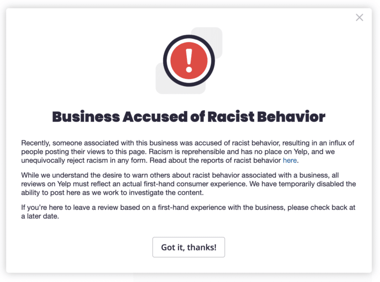 Yelp to Label Businesses Accused of Racism