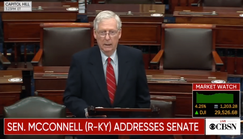 Mitch McConnell Backs Trump Campaign's Legal Fight