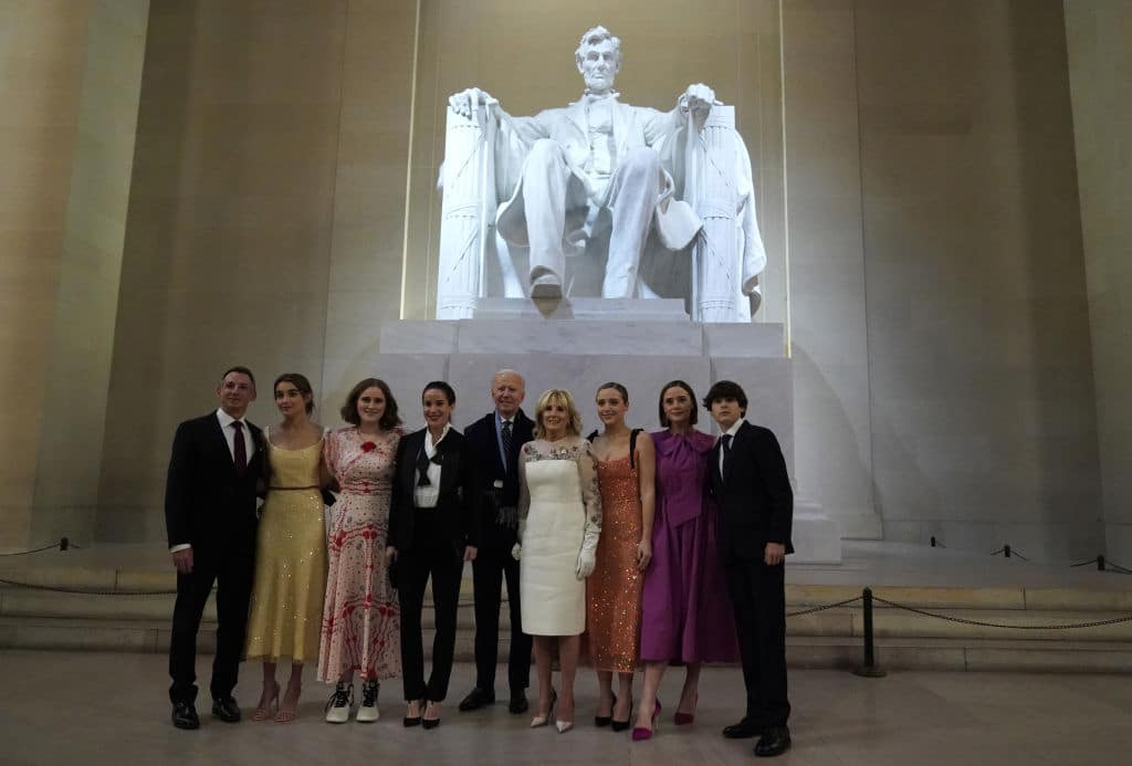 Joe Biden and His Family Violate His Mask Mandate for a Photo Op at Lincoln Memorial