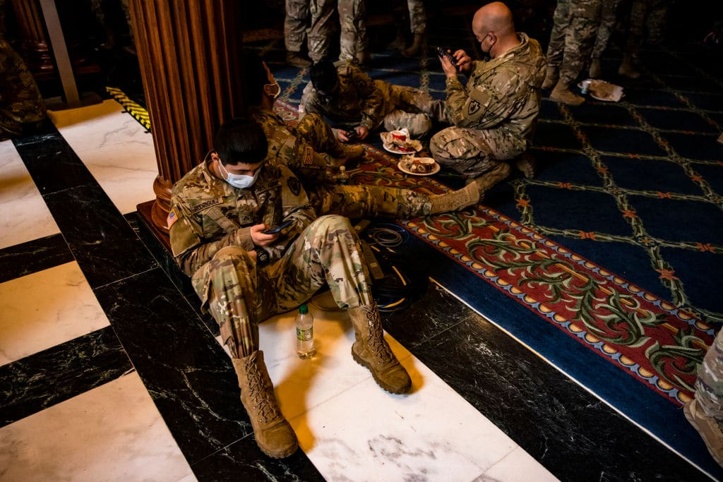 Soldiers At Capitol Sick After Being Given Undercooked Food & Meals With Metal Shavings