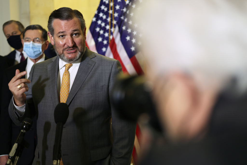 Vaccinated Sen. Cruz Schools Reporter Triggered That He's Not Wearing a Mask