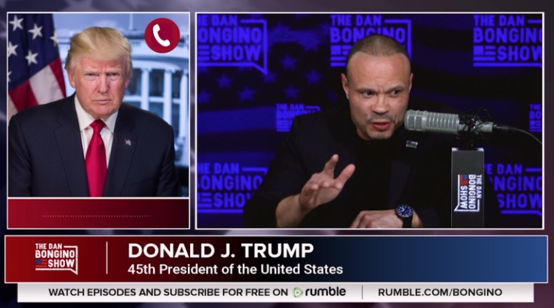 YouTube Censors Dan Bongino's Interview With President Trump